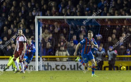 Greg Tansey of Inverness Caledonian Thistle celebrates scoring the first goal during the SPFL Ladbrokes Premiership match between Inverness Caledonian Thistle & Rangers at the Tulloch Caledonian Stadium, Inverness on 24th Febuary. Wright has been linked with the managers job at Rangers.