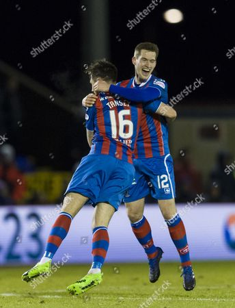 Greg Tansey of Inverness Caledonian Thistle celebrates scoring the only goal of the first half of the SPFL Ladbrokes Premiership match between Inverness Caledonian Thistle & Rangers at the Tulloch Caledonian Stadium, Inverness on 24th Febuary. Wright has been linked with the managers job at Rangers.