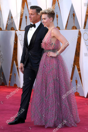 Stock Image of Scarlett Johansson and Joe Machota