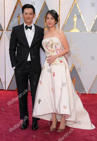 Stock Photo of John Cho and Kerri Higuchi