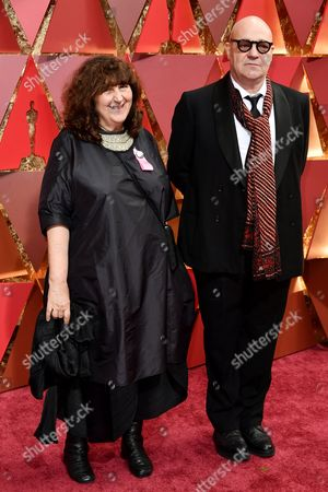 Gianfranco Rosi and Donatella Palermo