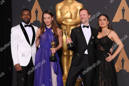 David Oyelowo, Salma Hayek, Orlando von Einsiedel and Joanna Natasegara - Documentary (Short Subject) - 'The White Helmets'