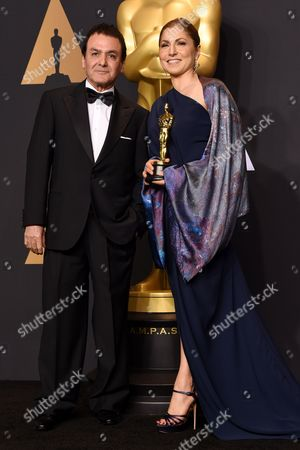 Stock Photo of Dr Firouz Naderi and Anousheh Ansari - Foreign Language - 'The Salesman'
