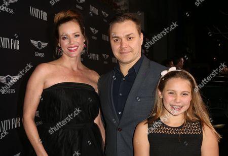 Stock Photo of Kimberly Quinn, Theodore Melfi, daughter