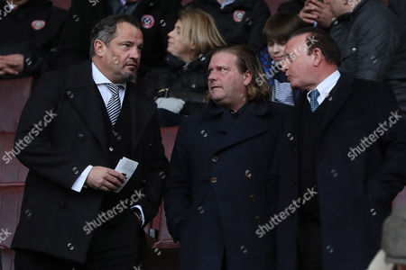 Bolton Wanderers Chairman Ken Anderson son Lee and Dean Holdsworth before the SkyBet League One match between Sheffield United and Bolton Wanderers played at Bramall Lane, Sheffield on 25th February 2017