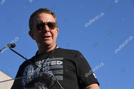 Stock Picture of UTA CEO Jeremy Zimmer during the UTA Hosts United Voices Rally, held outside the UTA Headquarters