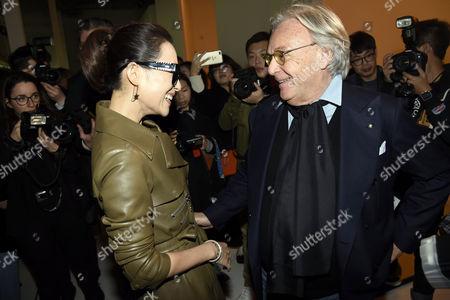 Stock Image of Nozomi Sasaki and Diego Della Valle