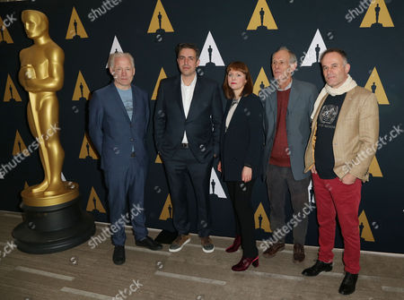 Stock Photo of Hannes Holm, Martin Zandvliet, Maren Ade, Martin Butler and Bentley Dean Foreign Oscar Nominations.