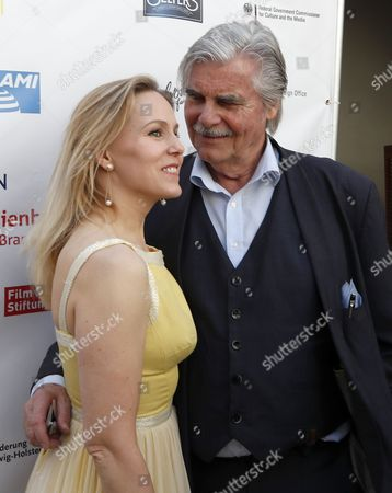 Dutch actress Hadewych Minis (L) and Austrian actor Peter Simonischek (R) from the Oscar-nominated movie 'Toni Erdmann' pose at the Oscar reception for German Oscar nominees at the Villa Aurora in Pacific Palisades, California, USA, 25 February 2017. The Academy Awards, also known as the Oscars, will take place in Hollywood on 26 February 2017.