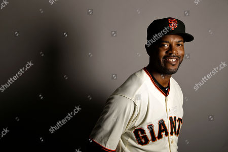 This is a 2017 photo of shortstop Jimmy Rollins of the San Francisco Giants baseball team poses for a portrait. This image reflects the Giants active roster as of, when this image was taken