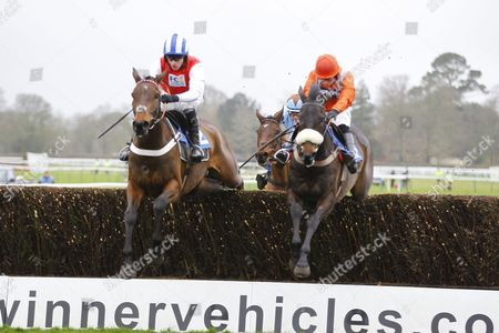 Kilcrea Vale and Jeremiah McGrath [left] beat As De Mee in the Toeplacepot Josh Gifford Memorial Novices' Chase at Fontwell.