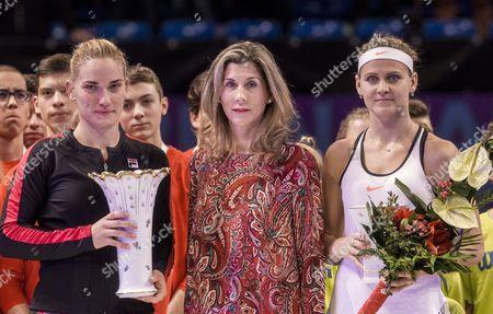 Timea Babos, Monica Seles and Timea Babos