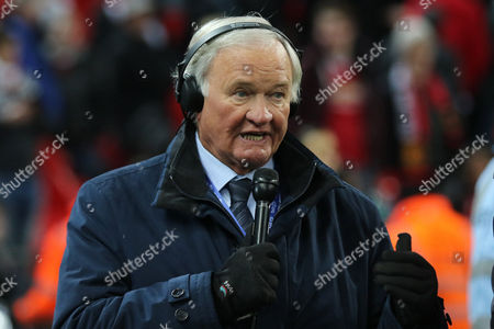 Former Manchester United Manager, Ron Atkinson was at the match working as a pundit during Manchester United vs Southampton, EFL Cup Final Football at Wembley Stadium on 26th February 2017