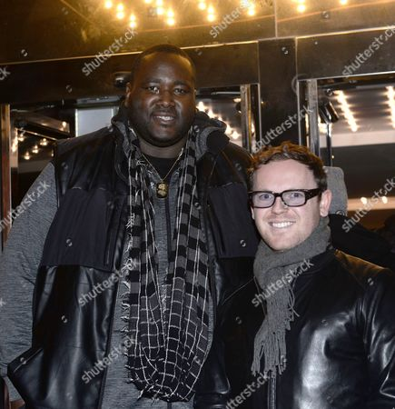 Stock Picture of Quinton Aaron and   Jonny Paterson - producer