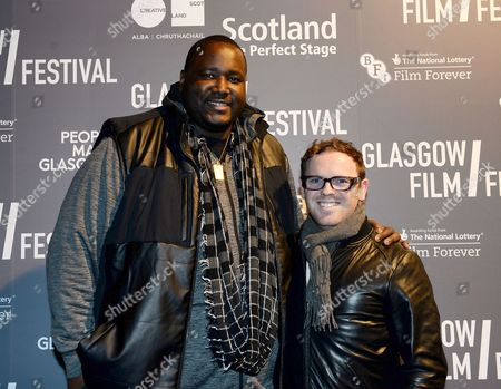 Stock Image of Quinton Aaron and   Jonny Paterson - producer