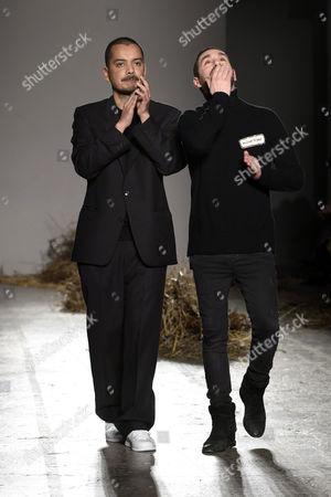 Mirko Fontana and Diego Marquez on the catwalk