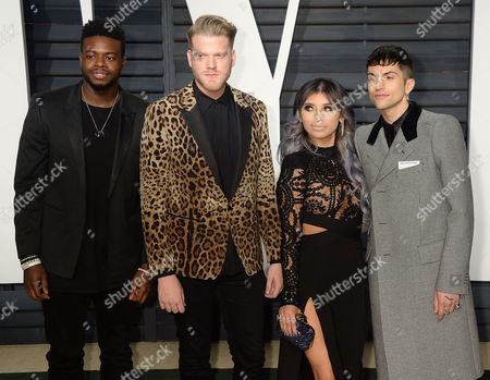 Kevin Olusola, Scott Hoying, Kirstie Maldonado, and Mitch Grassi