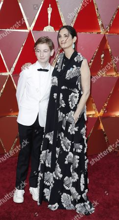 Stock Image of Carla Hacken (R) and Gallagher Hacken (L) arrives for the 89th annual Academy Awards ceremony at the Dolby Theatre in Hollywood, California, USA, 26 February 2017. The Oscars are presented for outstanding individual or collective efforts in 24 categories in filmmaking.