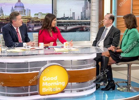 Stock Picture of Piers Morgan and Susanna Reid with Martin Callanan and Baroness Ros Altmann