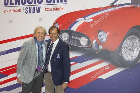 Stock Photo of Derek Bell and Emanuele Pirro