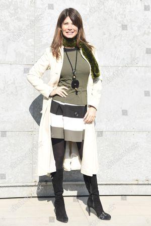 Editorial picture of Giorgio Armani show, Arrivals, Autumn Winter 2017, Milan Fashion Week, Italy - 27 Feb 2017