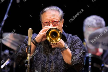Cuban jazz player Arturo Sandoval plays during a concert in Moscow, Russia