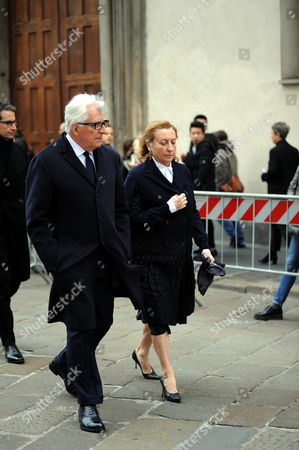 Stock Image of Miuccia Prada and Patrizio Bertellii.