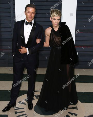 Joe Machota and Scarlett Johansson
