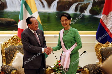 Aung San Suu Kyi and Hor Namhong