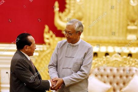 Htin Kyaw and Hor Namhong