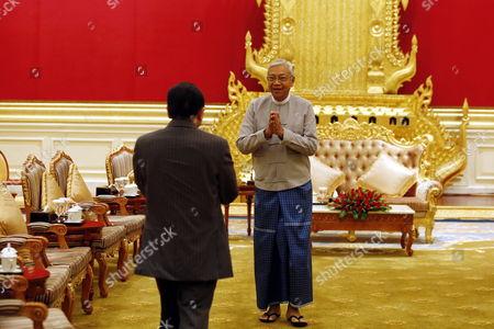 Stock Photo of Htin Kyaw and Hor Namhong