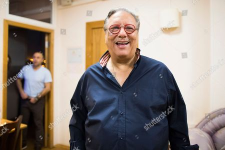 Cuban jazz player Arturo Sandoval speaks to Russian media prior to a concert in Moscow, Russia, . AP Photo/Alexander Zemlianichenko