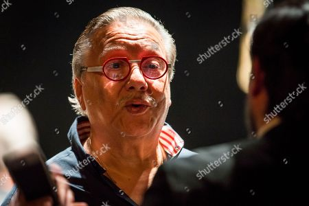 Cuban jazz player Arturo Sandoval speaks during a sound check prior to a concert in Moscow, Russia, . AP Photo/Alexander Zemlianichenko