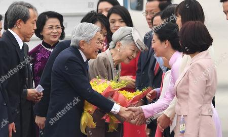 Akihito, Michiko and Dang Thi Ngoc Thinh