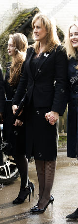 Editorial picture of Tara Palmer-Tomkinson memorial service, Dummer, Hampshire, UK - 27 Feb 2017