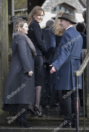 Editorial image of Tara Palmer-Tomkinson memorial service, Dummer, Hampshire, UK - 27 Feb 2017