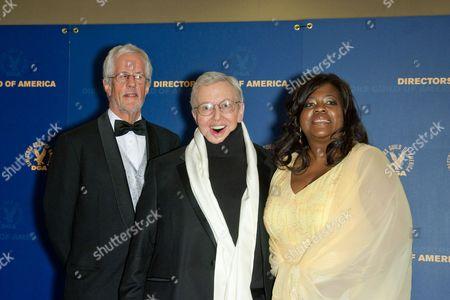 Michael Apted, Roger Ebert and Chaz Hammelsmith Ebert