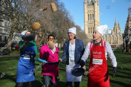 The team captains - Baroness Bertin, Naga Munchetty, Tracey Crounch, Alistair Stewart OBE