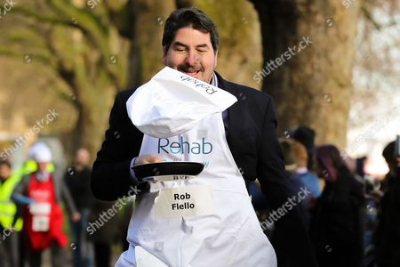Editorial photo of Rehab Parliamentary Pancake Race, London, UK - 28 Feb 2017
