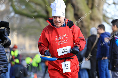 Stock Picture of Nigel Nelson, Sunday Mirror pictured at the Rehab Parliamentary Pancake Race