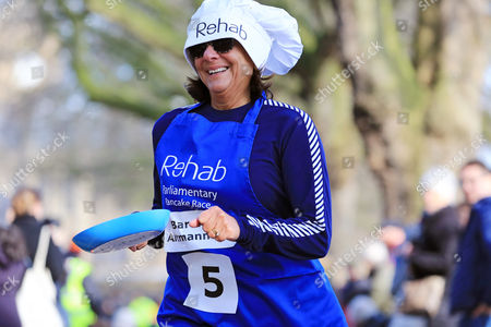 Baroness Ros Altmann CBE pictured at the Rehab Parliamentary Pancake Race