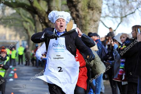 Editorial image of Rehab Parliamentary Pancake Race, London, UK - 28 Feb 2017