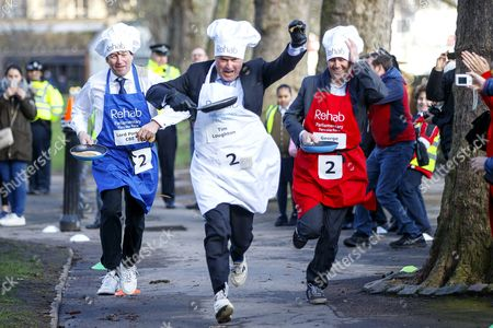 Editorial picture of Rehab Parliamentary Pancake Race, London, UK - 28 Feb 2017