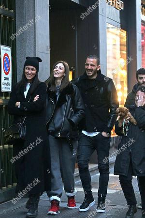 Stock Photo of Milano Leonardo Bonucci with his wife Martina Maccari