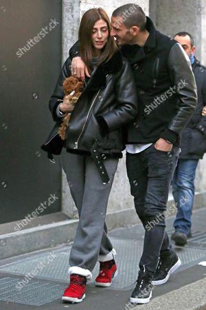 Milano Leonardo Bonucci with his wife Martina Maccari