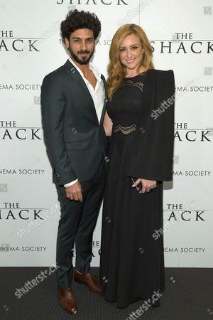 Stock Image of Avraham Aviv Alush and wife Nofar Koren Alush