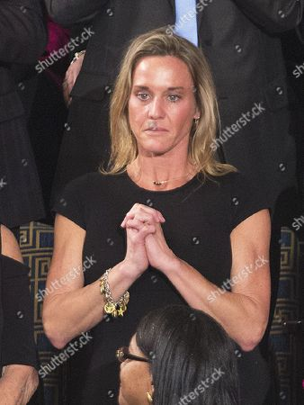 """Carryn Owens (black dress), the widow of William """"'Ryan' Owens, a Navy Seal killed in the Trump administration's first counterterrorism operation in Yemen"""