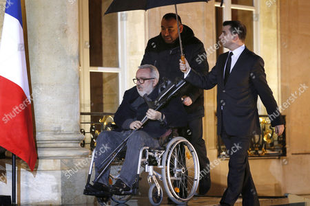 Stock Photo of French Actor and Director Dominique Farrugia Arrives at the Elysee Palace in Paris France 22 January 2016 France Paris