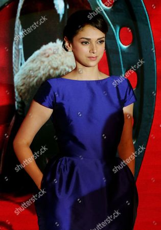 Indian Bollywood Actress Aditi Rao Hydari Attends a Promotional Event in Bangalore India 10 July 2015 India Bangalore