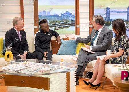 Frank Warren and Nicola Adams with Piers Morgan and Susanna Reid